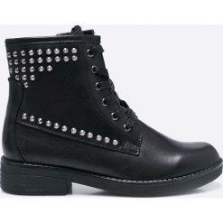 Marco Tozzi - Botki. Czarne buty zimowe damskie marki Marco Tozzi, z materiału, na obcasie. W wyprzedaży za 139,90 zł.