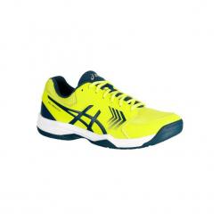 Buty tenisowe Asics Gel Dedicate męskie. Żółte buty do tenisa męskie Asics. W wyprzedaży za 169,99 zł.