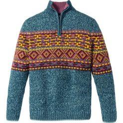 Sweter Regular Fit bonprix niebieskozielony morski. Zielone golfy męskie marki bonprix, m. Za 49,99 zł.