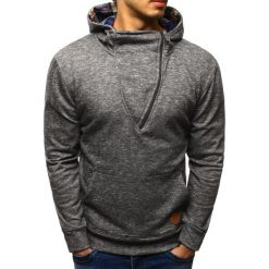 Bluzy męskie: Bluza męska z kapturem szara (bx1603)