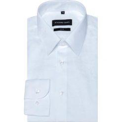 Koszula SIMONE KDBS000354. Białe koszule męskie na spinki Giacomo Conti, m, z bawełny, z klasycznym kołnierzykiem, z długim rękawem. Za 259,00 zł.
