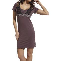 Koszule nocne i halki: Koszula nocna w kolorze fioletowo-czarnym