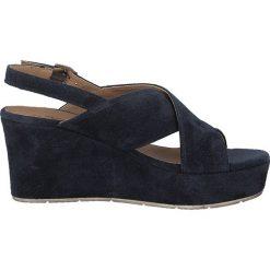 Rzymianki damskie: Skórzane sandały na koturnie Daiane