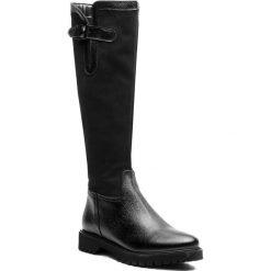 Oficerki SAGAN - 3258 Czarny Nubuk/Czarne Lico. Czarne buty zimowe damskie marki Kazar, ze skóry, na wysokim obcasie. W wyprzedaży za 319,00 zł.