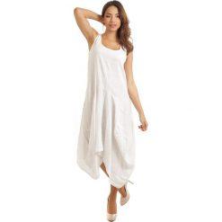 Sukienki: Lniana sukienka w kolorze białym