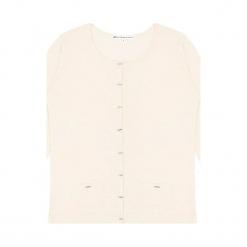 Kardigan kaszmirowy w kolorze białym. Białe kardigany damskie marki Ateliers de la Maille, z kaszmiru. W wyprzedaży za 545,95 zł.