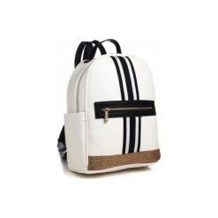 Plecaki damskie: Bessie London Plecak Damski Biały