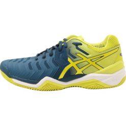 ASICS GELRESOLUTION 7 CLAY Obuwie do tenisa Outdoor ink blue/sulphur spring /white. Niebieskie buty do tenisa męskie Asics, z materiału. W wyprzedaży za 405,30 zł.