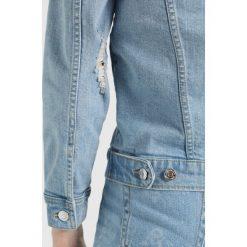 Bomberki damskie: Gina Tricot SOLANGE JACKET Kurtka jeansowa light blue destroy