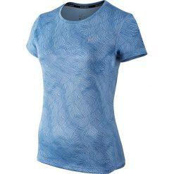 Bluzki asymetryczne: Nike Koszulka damska Women's Dry Miler Running Top Print niebieska r. M (799560 422)
