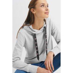 Odzież damska: Bluza z kapturem i kryształkami