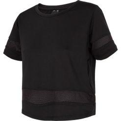 Bluzki asymetryczne: Koszulka treningowa damska TSDF257 - GŁĘBOKA CZERŃ