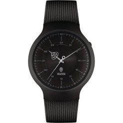 Zegarki męskie: Zegarek męski Dressed czarny pleciony pasek