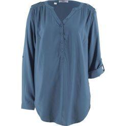 Tunika, długi rękaw bonprix indygo. Niebieskie tuniki damskie z długim rękawem bonprix. Za 74,99 zł.