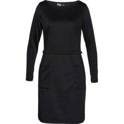 Sukienka bonprix czarny. Czarne sukienki dzianinowe bonprix. Za 59,99 zł.