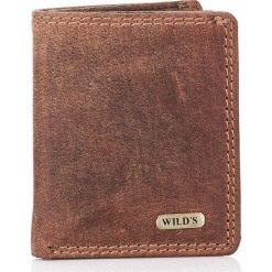 Portfele męskie: Skórzany Mały portfel męski DUKE brązowy