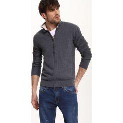 Swetry męskie: KARDIGAN DŁUGI RĘKAW MĘSKI Z GUZIKIEM, Z ZAMKIEM