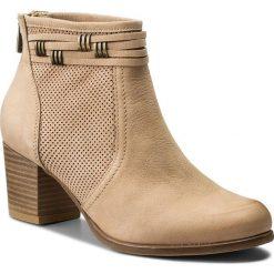 Botki LASOCKI - 1690-09 Beżowy. Brązowe buty zimowe damskie Lasocki, z materiału, na obcasie. Za 279,99 zł.