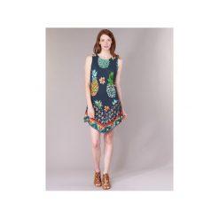Sukienki krótkie Desigual  OELPOLA. Niebieskie sukienki mini Desigual, l, z krótkim rękawem. Za 244,30 zł.