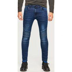 Jeansy biker skinny fit - Granatowy. Niebieskie jeansy męskie relaxed fit Reserved. Za 129,99 zł.