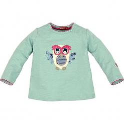 """Bluza """"Eule"""" w kolorze zielonym. Zielone bluzy dziewczęce rozpinane marki Bondi, z aplikacjami, z bawełny. W wyprzedaży za 45,95 zł."""