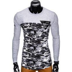 Bluzy męskie: BLUZA MĘSKA BEZ KAPTURA Z NADRUKIEM B803 - SZARA