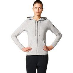 Bluzy rozpinane damskie: Adidas Bluza damska ESS SOLID FZ HD szara r. XS (S97086)