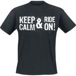 T-shirty męskie: Keep Calm And Ride On! T-Shirt czarny