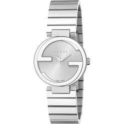 ZEGAREK GUCCI INTERLOCKING YA133503. Czarne zegarki damskie marki KALENJI, ze stali. Za 3840,00 zł.