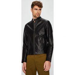 Jack & Jones - Kurtka. Czarne kurtki męskie przejściowe marki Jack & Jones, l, z bawełny, z klasycznym kołnierzykiem, z długim rękawem. W wyprzedaży za 179,90 zł.