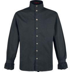 KuroNeko Cotton Victorian Blouse Koszula czarny. Czarne koszule męskie na spinki KuroNeko, l, z falbankami, z długim rękawem. Za 121,90 zł.