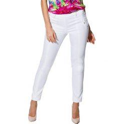 Spodnie z wysokim stanem: Spodnie w kolorze białym