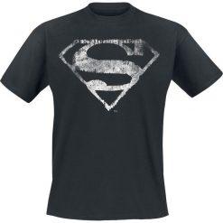 T-shirty męskie: Superman Logo Mono Distressed T-Shirt czarny