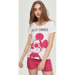 Piżamy damskie: Piżama z nadrukiem mickey mouse – Różowy