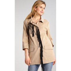 Płaszcze damskie pastelowe: Sisley Krótki płaszcz kaki