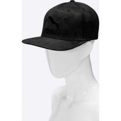 Puma - Czapka. Czarne czapki z daszkiem damskie Puma, z bawełny. W wyprzedaży za 84,90 zł.