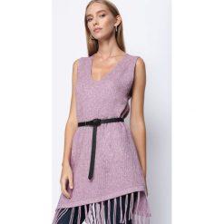 Fioletowa Sukienka Have Some Love. Fioletowe sukienki mini marki DOMYOS, l, z bawełny. Za 44,99 zł.
