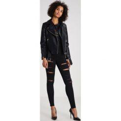 Topshop JONI Jeans Skinny Fit black. Czarne jeansy damskie marki Topshop, z bawełny. Za 229,00 zł.