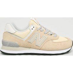New Balance - Buty WL574CRA. Szare buty sportowe damskie New Balance, z materiału. W wyprzedaży za 299,90 zł.