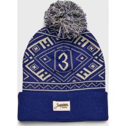 True Spin - Czapka. Niebieskie czapki zimowe damskie True Spin, na zimę, z dzianiny. W wyprzedaży za 49,90 zł.