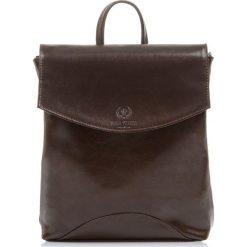 Plecak damski Włoski ze skóry naturalnej Brązowy. Brązowe plecaki damskie Paolo Peruzzi, ze skóry, vintage. Za 299,00 zł.