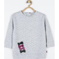 Bluza. Szare bluzy dziewczęce rozpinane PRETTY GIRL, z aplikacjami, z bawełny. Za 79,90 zł.