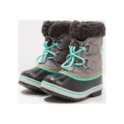 Sorel YOOT PAC Śniegowce quarry/dolphin. Szare buty zimowe chłopięce Sorel, z materiału. W wyprzedaży za 209,30 zł.