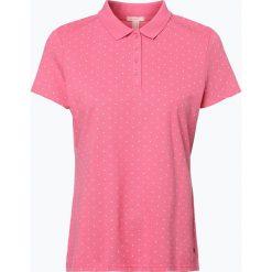 Esprit Casual - Damska koszulka polo, różowy. Czerwone bluzki sportowe damskie Esprit Casual, m, z klasycznym kołnierzykiem. Za 129,95 zł.