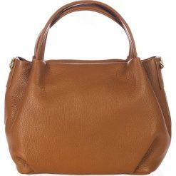 Torebki klasyczne damskie: Skórzana torebka w kolorze brązowym – 28 x 25 x 18 cm