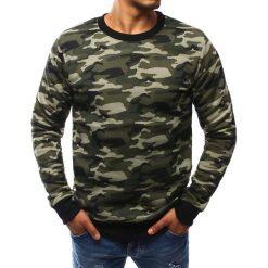 Bluzy męskie: Bluza męska bez kaptura woodland camo (bx2442)