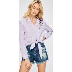 Answear - Koszula. Szare koszule wiązane damskie marki ANSWEAR, l, z poliesteru, casualowe, z długim rękawem. W wyprzedaży za 49,90 zł.