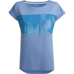T-shirt damski TSD612 - niebieski - Outhorn. Niebieskie t-shirty damskie Outhorn, z materiału. W wyprzedaży za 24,99 zł.