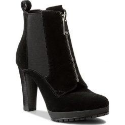 Botki ARMANI JEANS - 925287 7A621 00020 Nero. Czarne botki damskie skórzane marki Armani Jeans. W wyprzedaży za 619,00 zł.