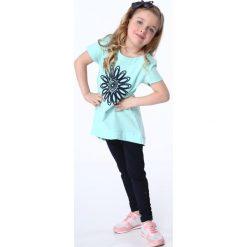 Sukienki dziewczęce: Tunika z kwiatem miętowa NDZ8210